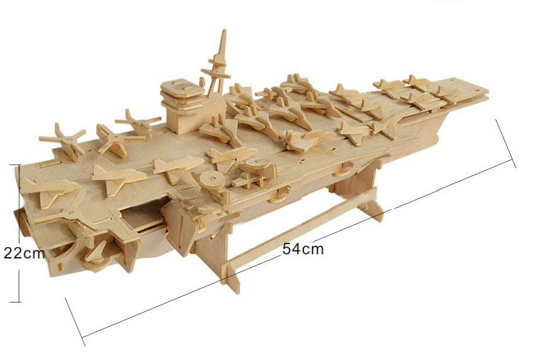 DIY toy-3D puzzle-Wooden Aircraft Carrier