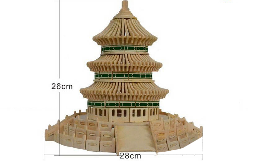DIY toy-3D puzzle-Wooden temple of heaven