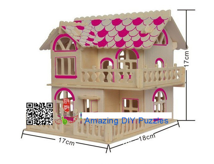 DIY toy-3D puzzle-Wooden Roman time cabin