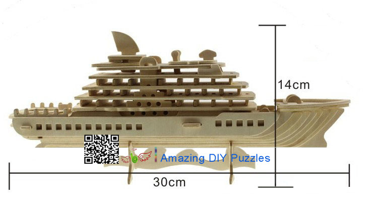 DIY toy-3D puzzle-Wooden Luxury cruise