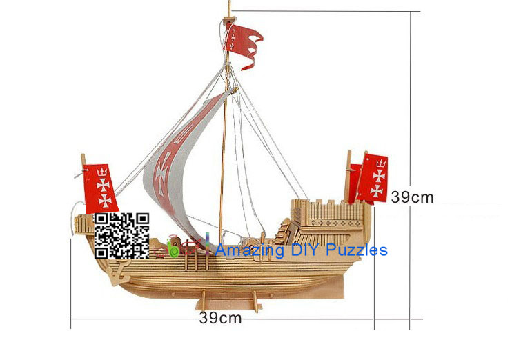 DIY toy-3D puzzle-Wooden The alliance warship