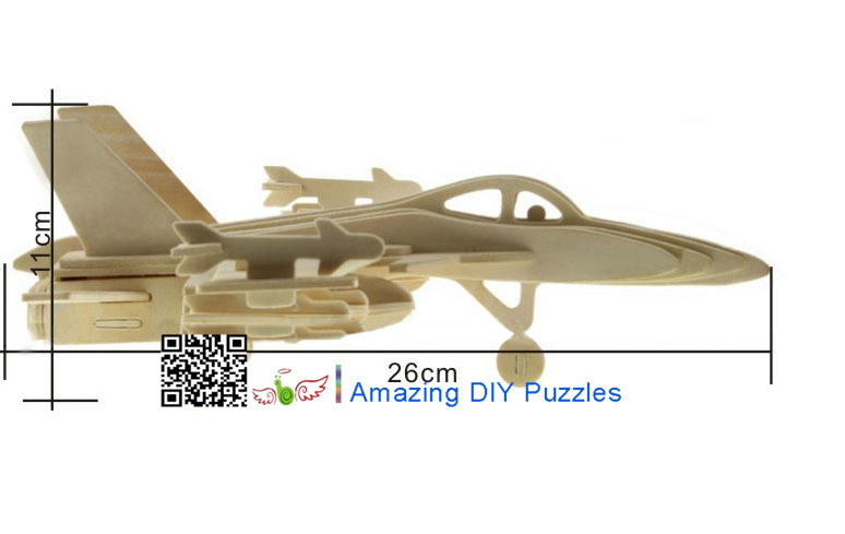 DIY toy-3D puzzle-Wooden F-18 Bumblebee bomber