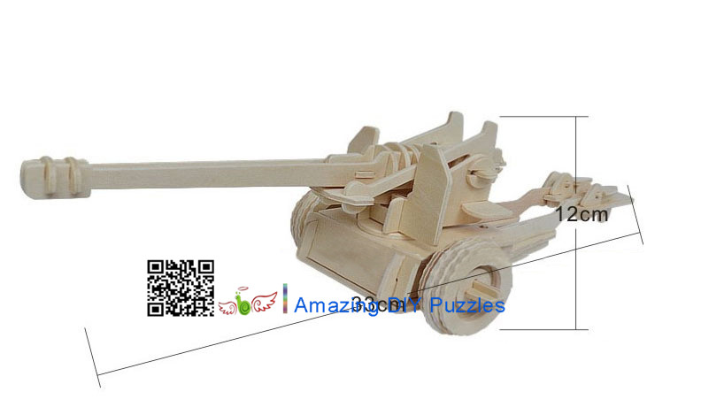 DIY toy-3D puzzle-Wooden Cannon