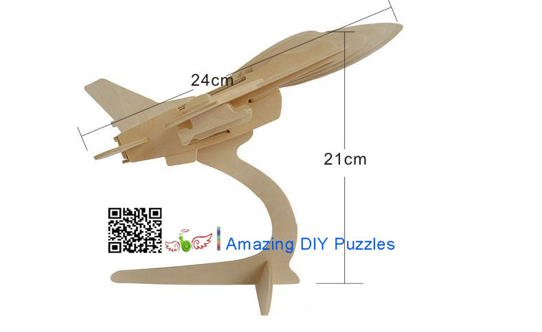 DIY toy-3D puzzle-Wooden F-16 Fighter