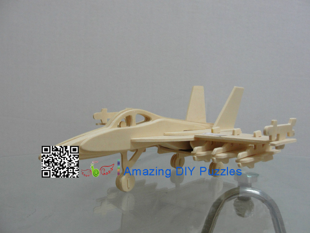 DIY toy-3D puzzle-Wooden F-18 Fighter