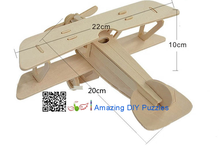 DIY toy-3D puzzle-Wooden Albatross plane
