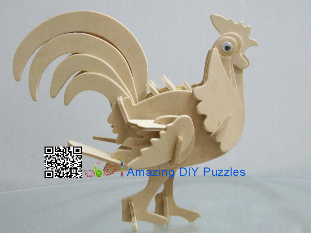 DIY toy-3D puzzle-Wooden cock
