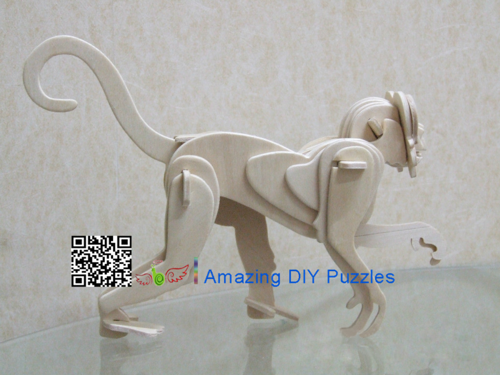 DIY toy-3D puzzle-Wooden Monkey