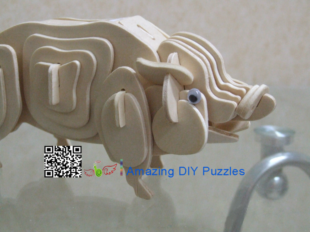 DIY toy-3D puzzle-Wooden Pig
