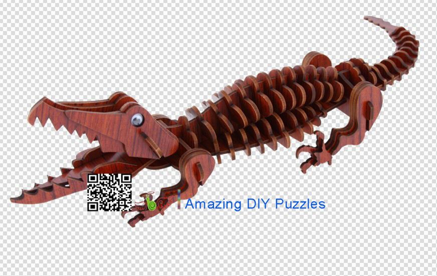 DIY toy-3D puzzle-Rosewood Crocodile