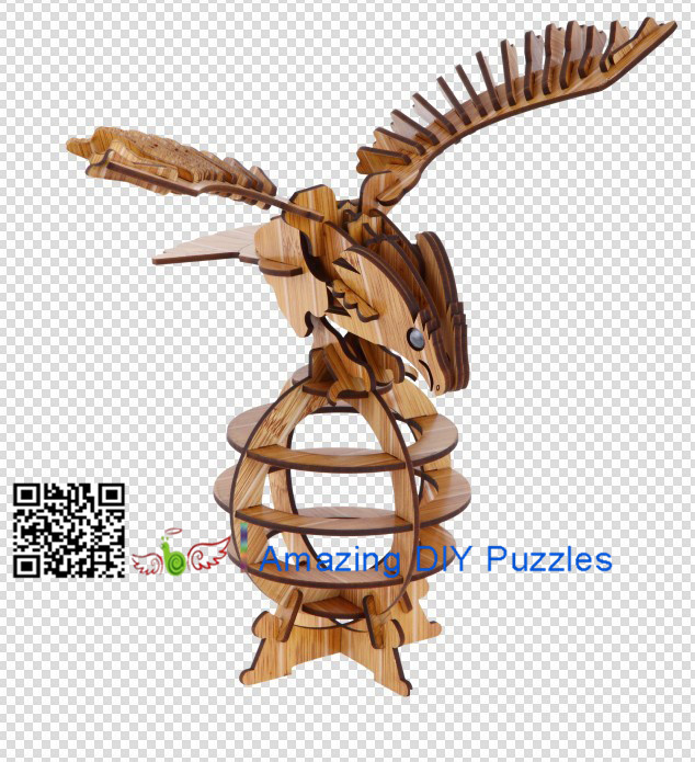 DIY toy-3D puzzle-Bamboo Eagle