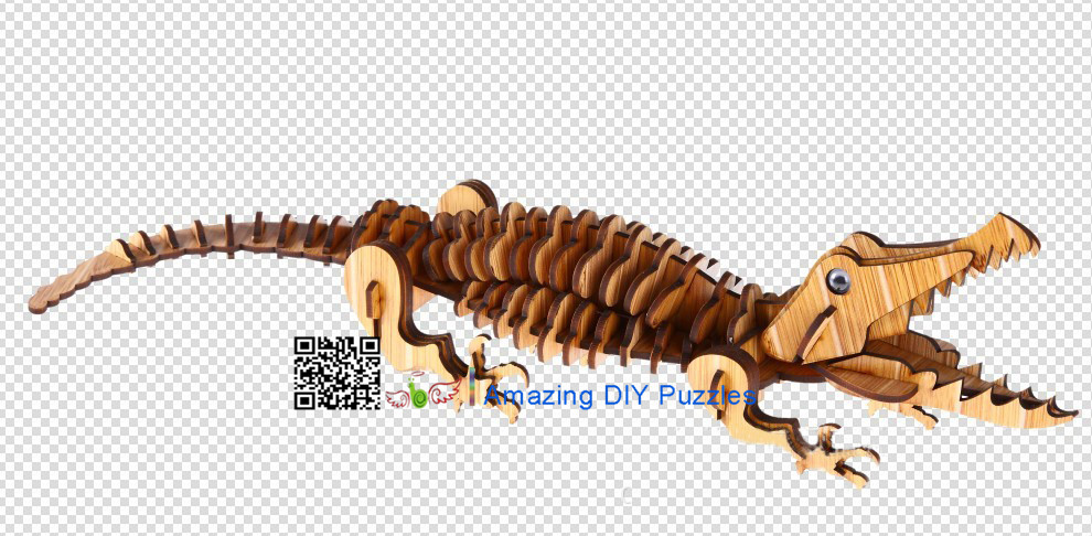 DIY toy-3D puzzle-Bamboo Crocodile