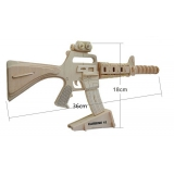 DIY toy-3D puzzle-Wooden Carbine 15