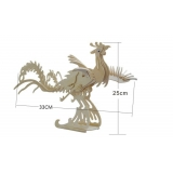 DIY toy-3D puzzle-Wooden Phoenix