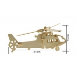 DIY toy-3D puzzle-Wooden Helicopter fighter