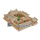 DIY toy-3D puzzle-Wooden Beijing courtyard house