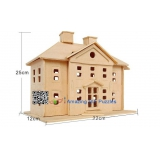 DIY toy-3D puzzle-Wooden Country house
