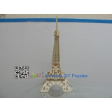 DIY toy-3D puzzle-Wooden Paris Eiffel Tower