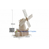 DIY toy-3D puzzle-Wooden big dutch windmill
