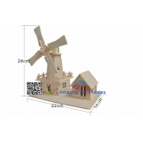 DIY toy-3D puzzle-Wooden Dutch windmill