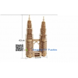 DIY toy-3D puzzle-Wooden Petronas Twin Towers