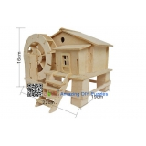 DIY toy-3D puzzle-Wooden Water mill cabin