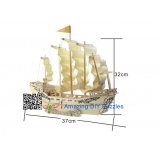 DIY toy-3D puzzle-Wooden Ming dynasty ancient sailing