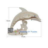 DIY toy-3D puzzle-Wooden Dolphin