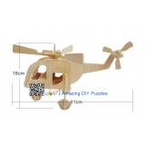 DIY toy-3D puzzle-Wooden Helicopter