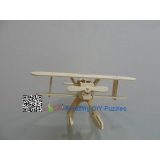 DIY toy-3D puzzle-Wooden Heninkel aviation