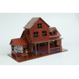 DIY toy-3D puzzle-Rosewood cabin