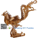 DIY toy-3D puzzle-Bamboo Phoenix