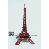 DIY toy-3D puzzle-Rosewood Paris Eiffel Tower