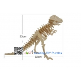 DIY toy-3D puzzle-Wooden Tyrannosaurus