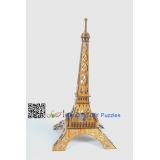 DIY toy-3D puzzle-Bamboo Paris Eiffel Tower