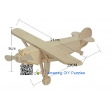 DIY toy-3D puzzle-Wooden Louis plane