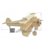 DIY toy-3D puzzle-Wooden Triplane
