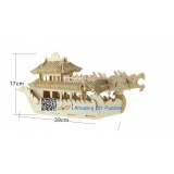 DIY toy-3D puzzle-Wooden Dragon boat